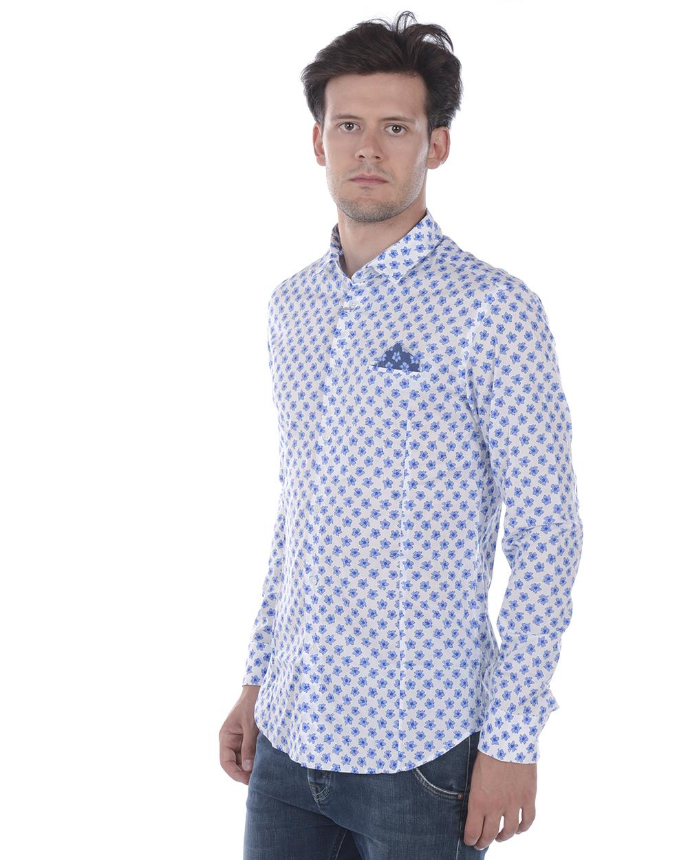 Camicia Daniele Alessandrini Shirt Cotone Uomo Bianco C1657R12423902 2