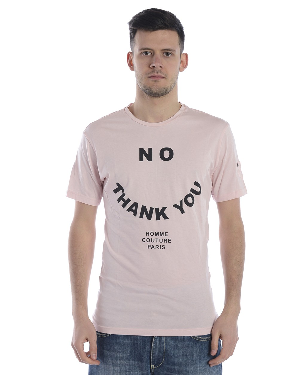 DANIELE ALESSANDRINI T-SHIRT MAGLIA NO THANK YOU ST M6592E6433802