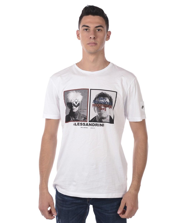 DANIELE ALESSANDRINI T-SHIRT MAGLIA POP ART MANIFESTO ST M6716E6433806