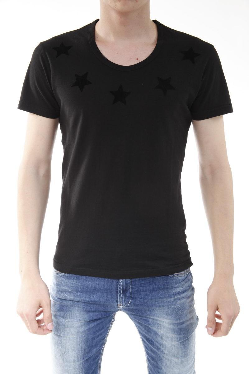 DANIELE ALESSANDRINI T-SHIRT MAGLIA SUPER STAR ST FLOCK M4737E5033335